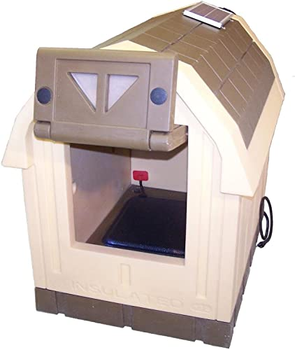 ASL Solutions Deluxe Dog Palace Large Doghouse – Includes Heater and Fan