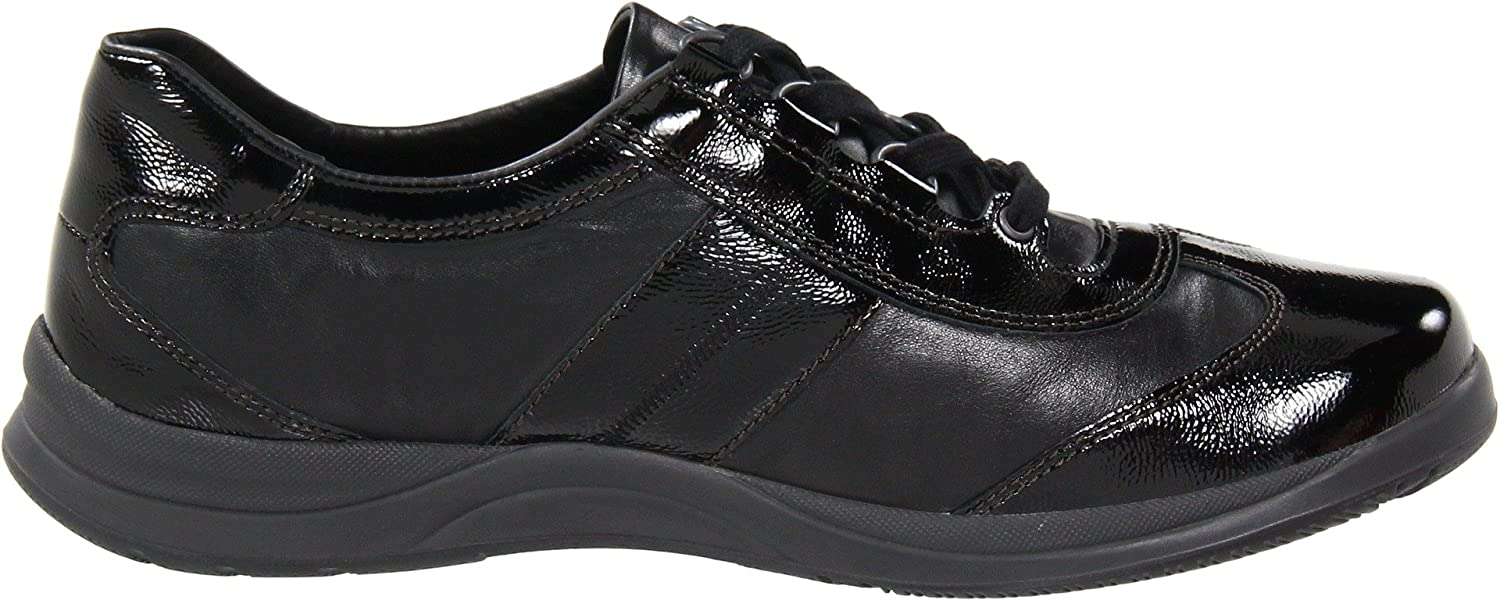 Mephisto Women's 5 Laser Walking Shoe B007M0PDGC 5 Women's B(M) US|Black Crinkle Patent/Smooth e18983