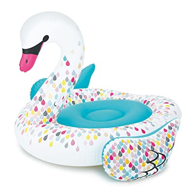 Play Day Giant Swan Float with Grip Handles: Toys & Games
