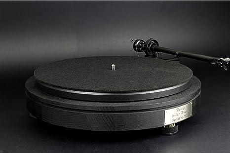 alfombrilla de fieltro negro espesor 3 mm para tocadiscos ...