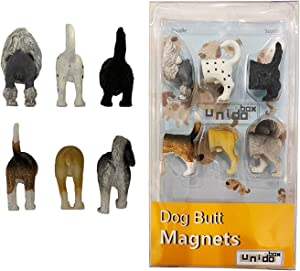 Animal Cat Dog Butt Magnets, Set of 6 - Funny Refrigerator Photo Magnets, Home Office Desk Decor Organizers, Animal Pet Lover Gift (Dog_B)