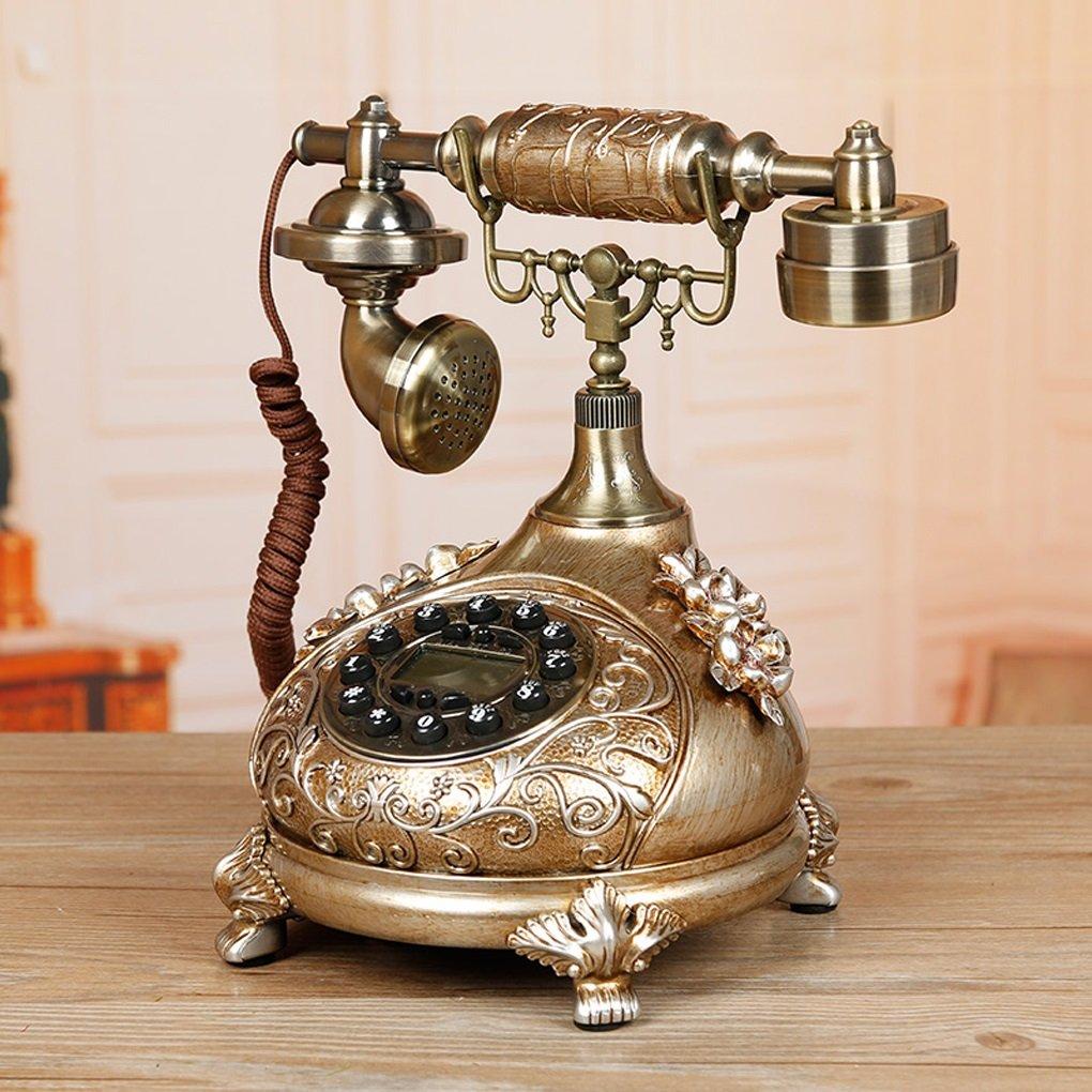 Edge To デジタル電話 ヨーロッパのアンティーク電話自宅のリビングルームのベッドルームの創造的なファッションヴィンテージレトロな固定電話固定電話 B07FFHVNPY