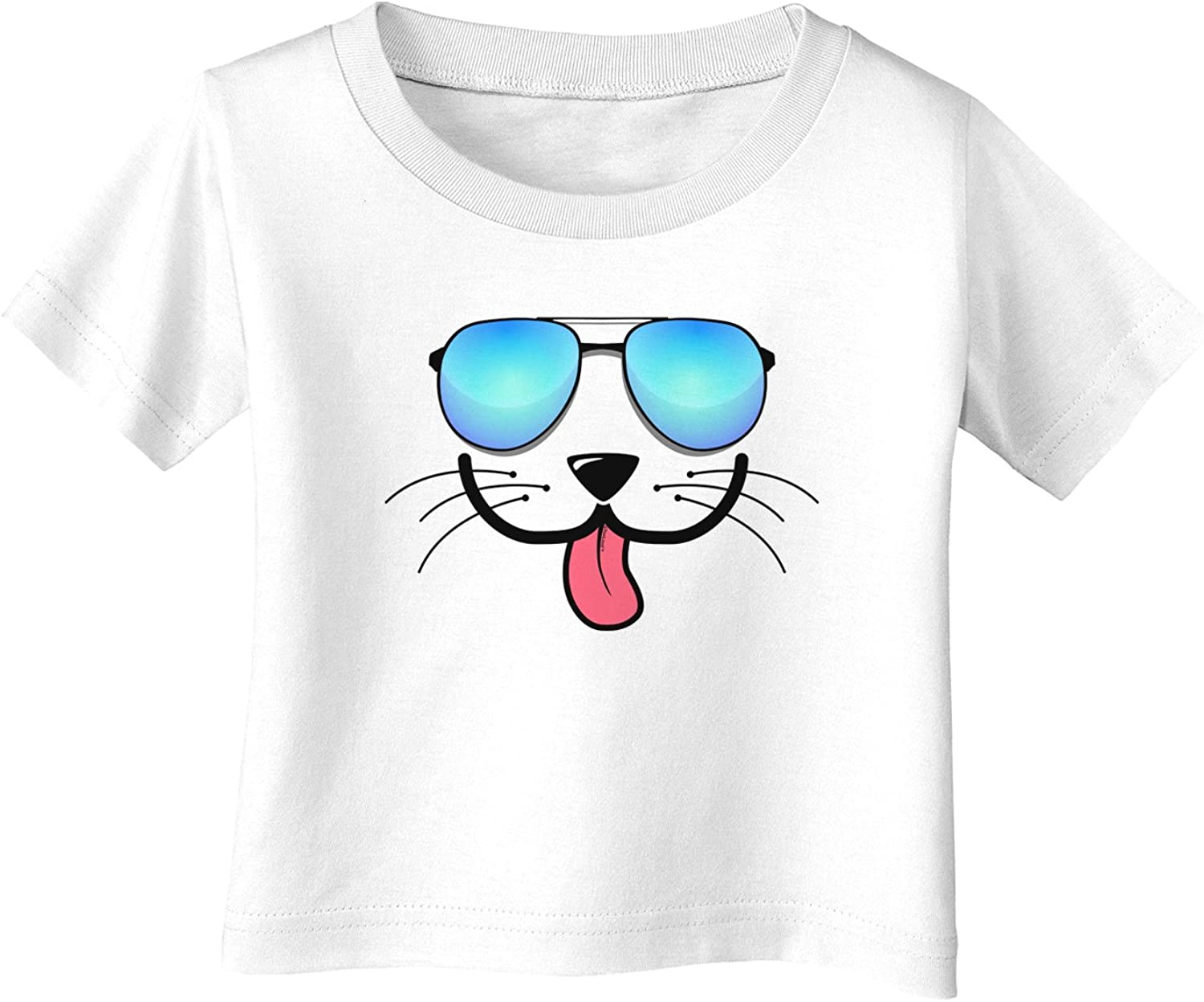 TooLoud KYU-T Face Puppino Cool Sunglasses Infant T-Shirt