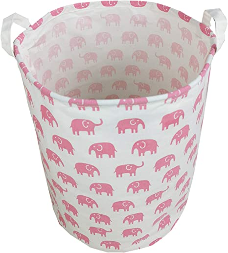 Storage bin Laundry Hamper Toy Basket for the Nursery Elephant 12 x 10 x 20  Choose your colors water repellent linings available