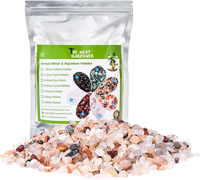 and Yellow Pastel Accents Mixed Color Aquarium Stones Garden Accessories Top Dressing for Bonsai Potted 2.2-lb Natural Decorative Pebbles Polished Tterrarium Gravel White Stones Rocks with Red Green