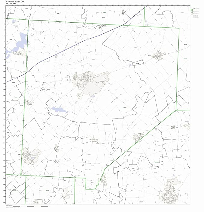 Amazon Com Clinton County Ohio Oh Zip Code Map Not Laminated Home
