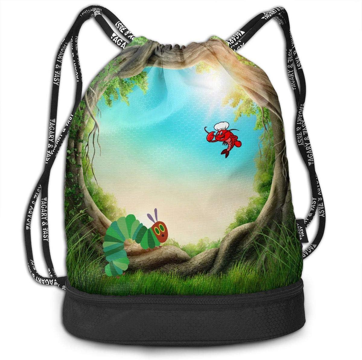Gym Drawstring Bag Backpack Lemon Pattern Thanksgiving Unisex Gym Shoulder Bag String Bags