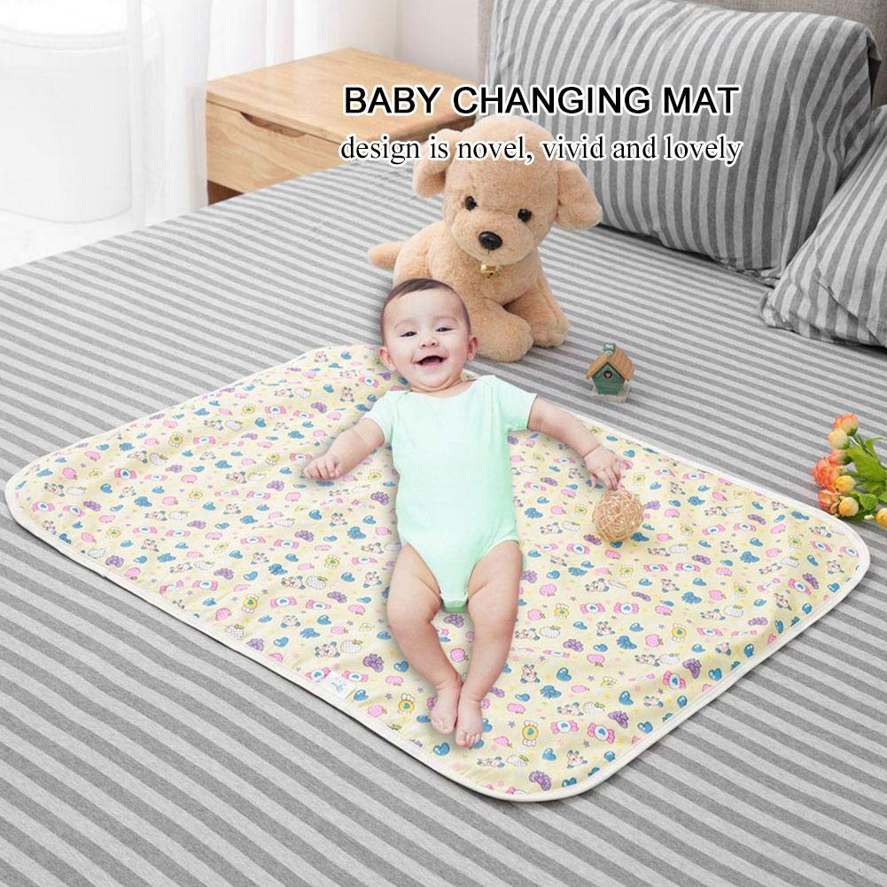60x80cm Baby Urine Pad Large breathable Nappy Waterproof Infant Liner Diaper Changing Cotton Bed Cover Cartoon Newborn Diaper Changing Mat #3