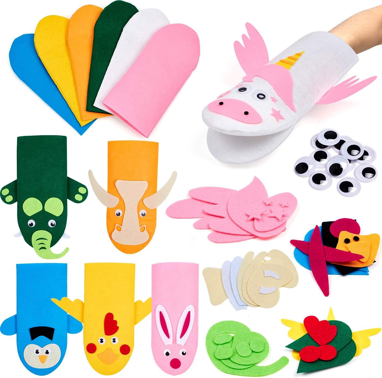 Tacobear Manualidades Niños Marionetas Manualidades Kit Marionetas de Mano Bricolaje DIY Kit Marionetas Animales Marionetas Juguetes Creativo Regalo para Niños