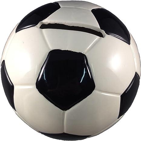 PMS - Hucha (cerámica), forma de balón de fútbol, color blanco y ...