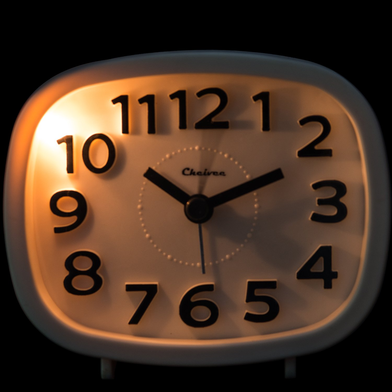 Analog Alarm Clock No Ticking