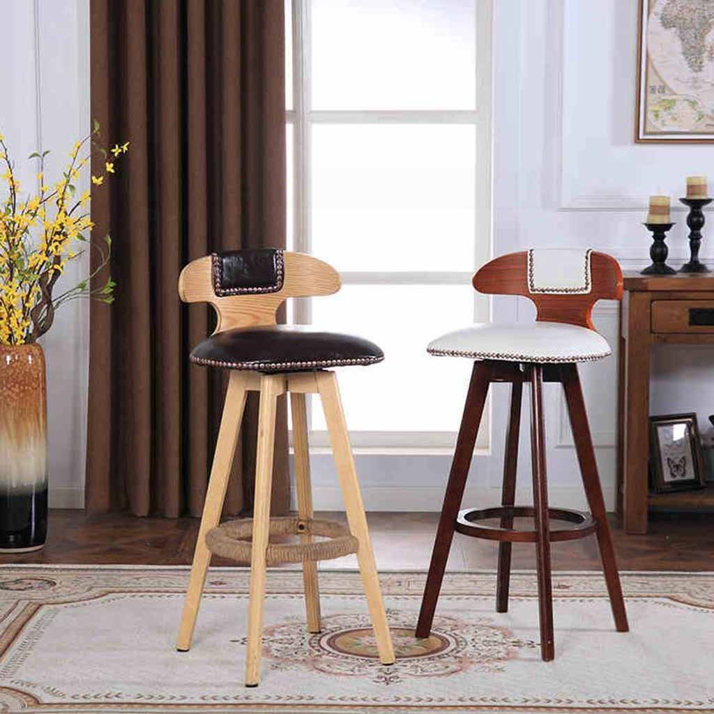 Amazon.com: Wooden Bar Stool Swivel Counter Tall Chairs Kitchen ...