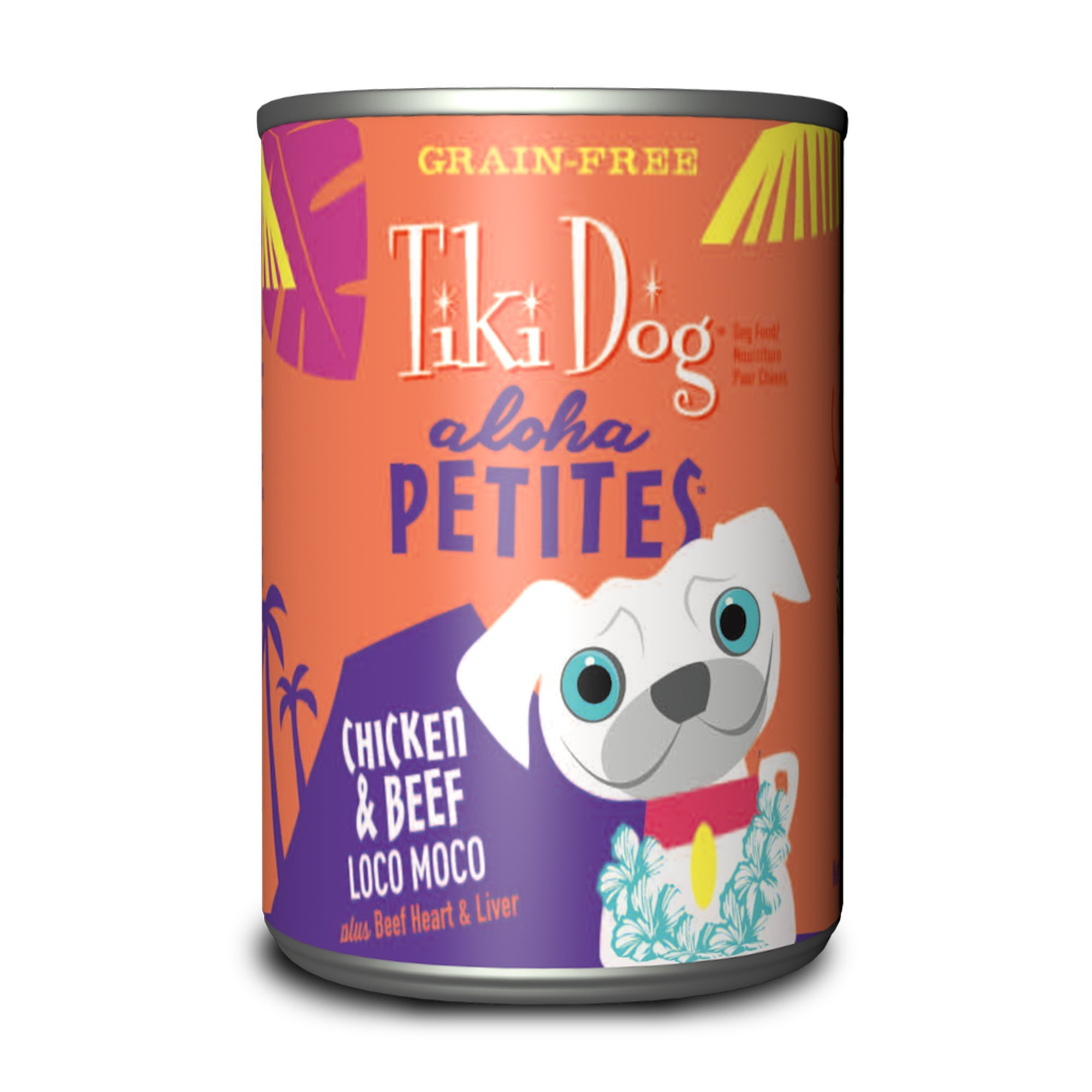 Tiki Dog Aloha Petites Chicken & Beef Loco Moco Wet Dog Food, 9 oz., Case of 12