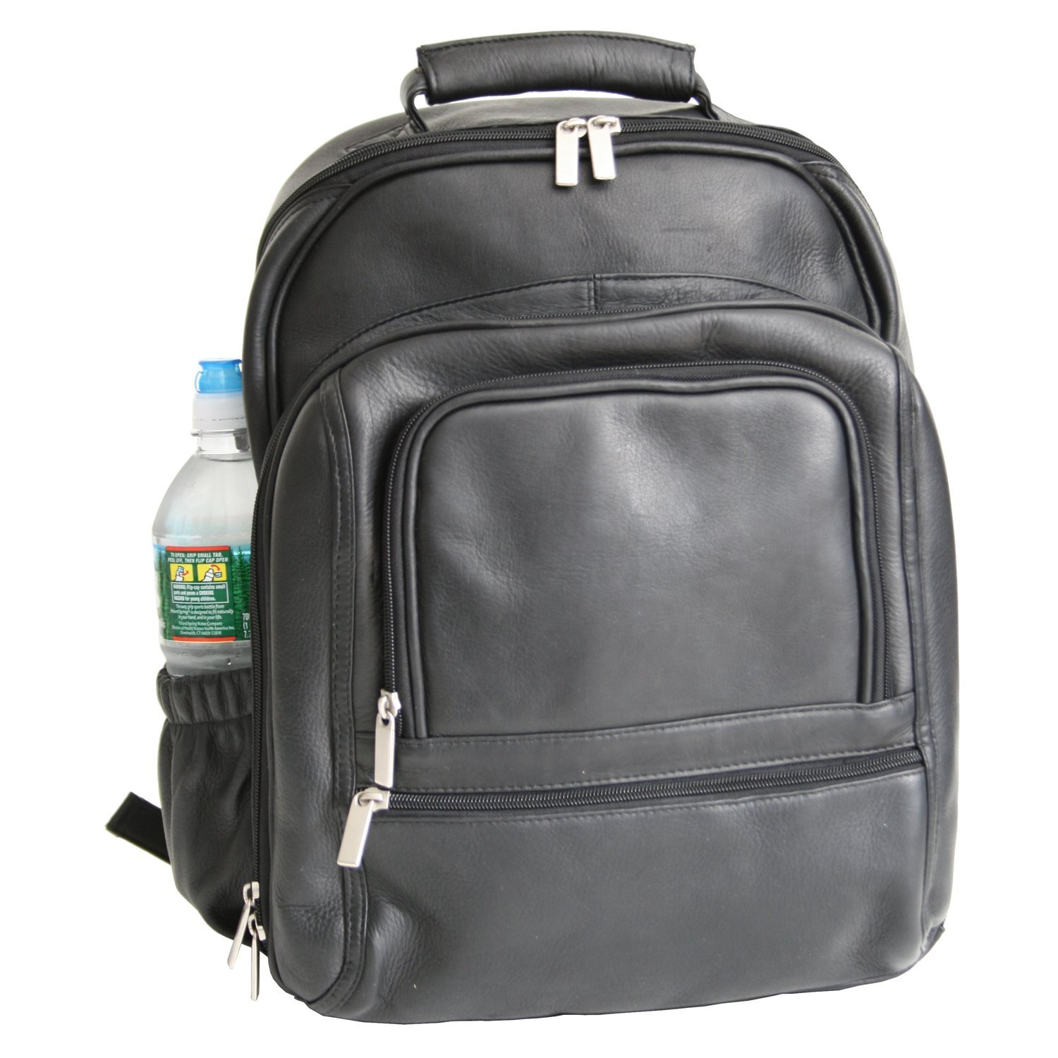 Royce Leather Executive 15'' Laptop Backpack Bag Handcrafted In Colombian Genuine Leather Laptop Backpack, Black