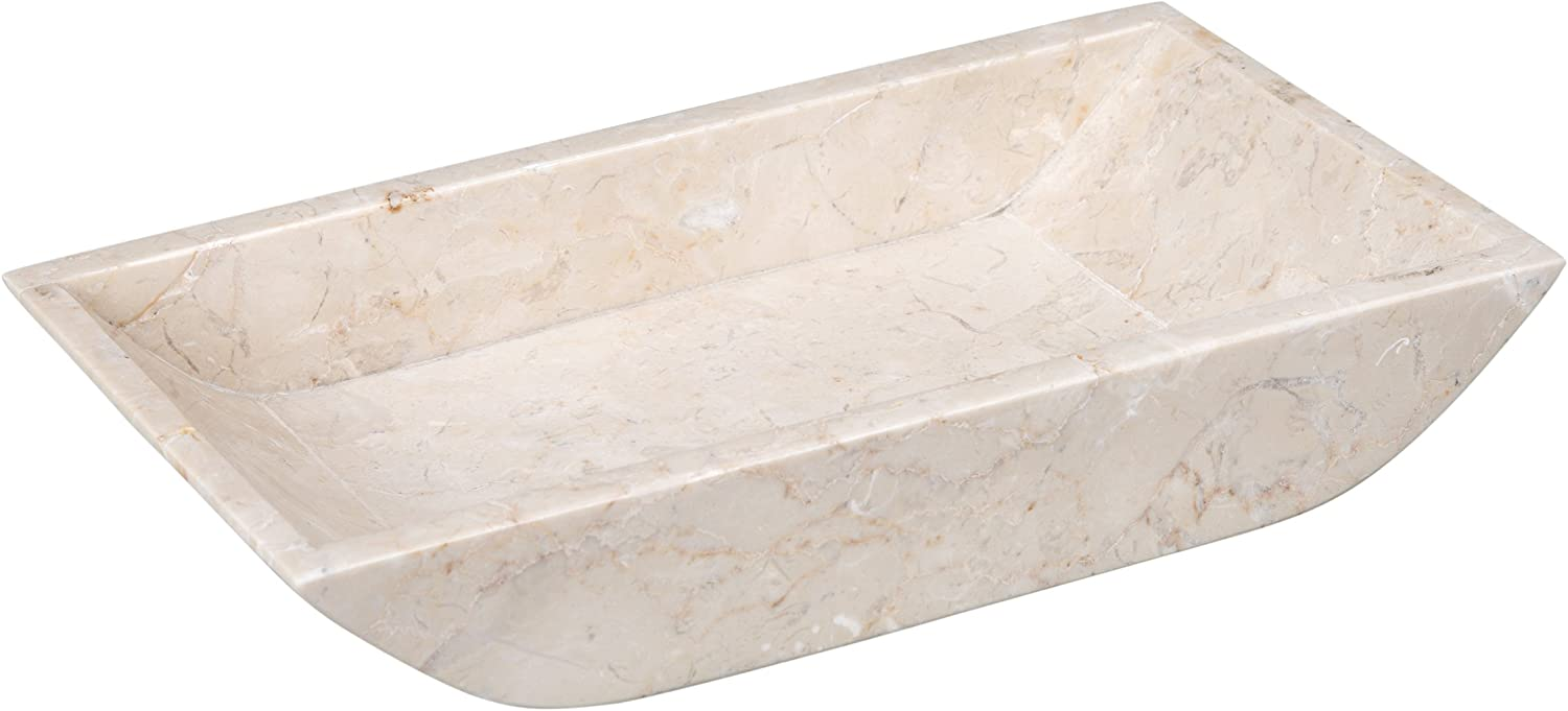 Creative Home Marble Boat Shaped Guest Towel Tray