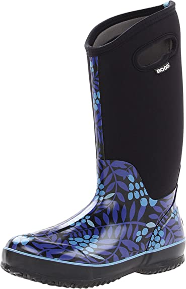 Bogs Women's Classic High Winterberry Waterproof Insulated Boot,Blue,6 ...