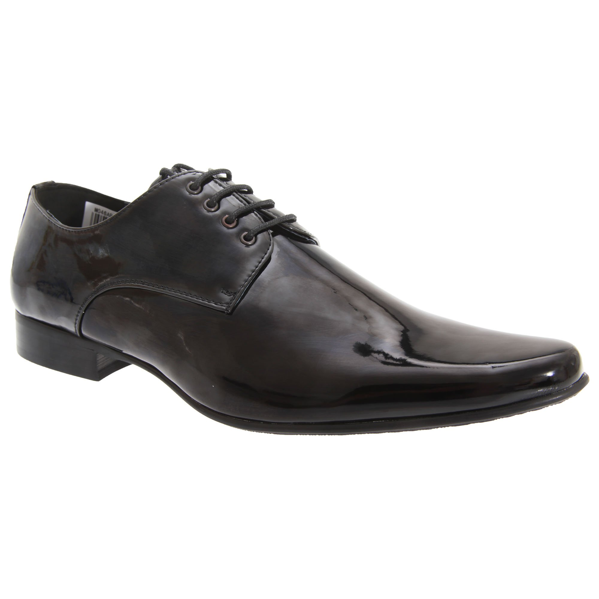 Goor Mens Patent Leather Lace-Up Chisel Toe Gibson Dress Shoes (12 US) (Black Patent)