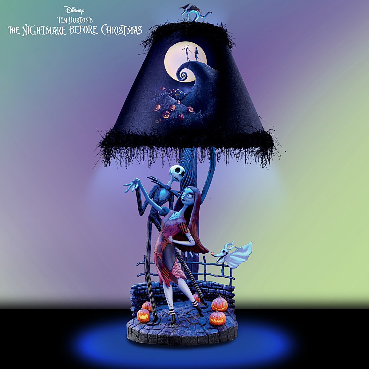 Tim Burton's The Nightmare Before Christmas Moonlight Table Lamp ...