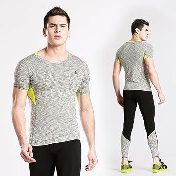 Camisa De Manga Corta De Jersey De Gimnasia Para Hombre Top Transpirable Cómodo Y Confortable Acolchado