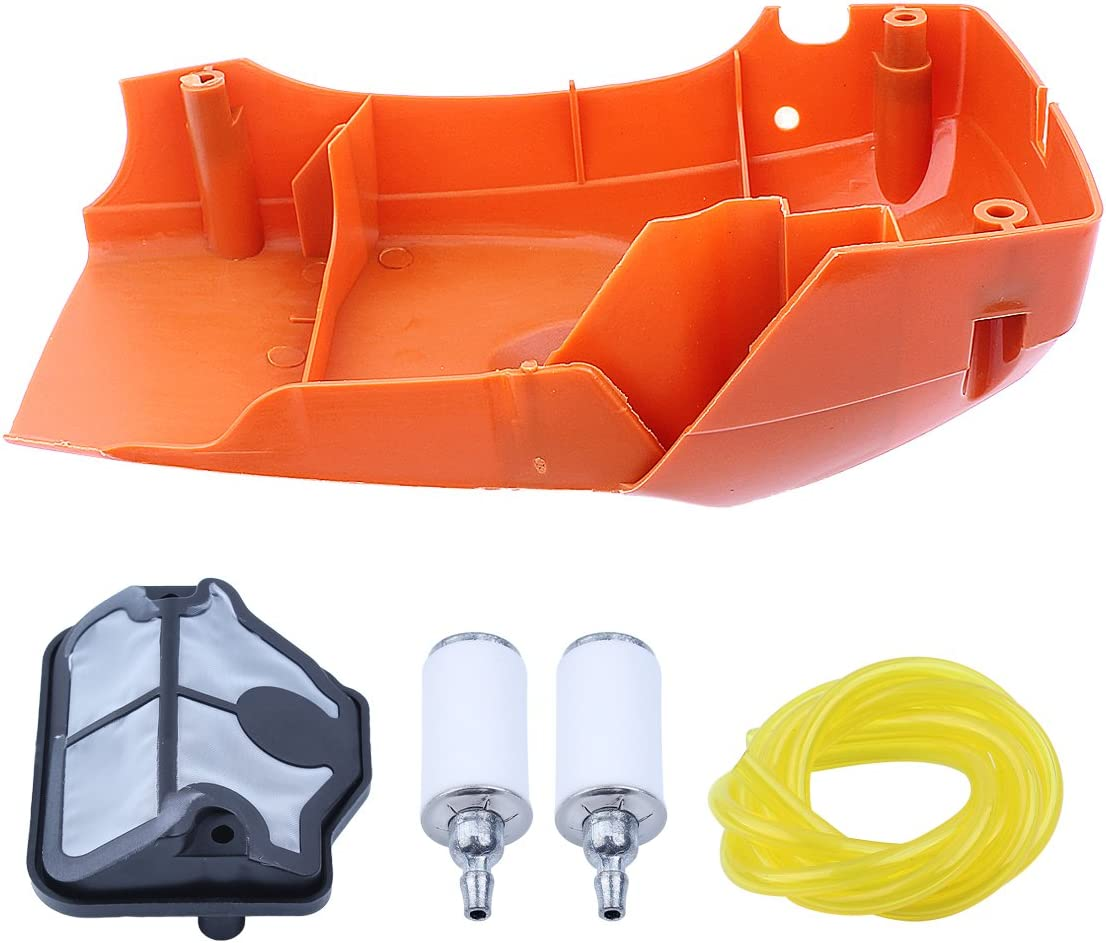 Haishine Top Engine Shroud Cylinder Cover Air Filter Kit for Husqvarna 340 345 350 Chainsaw #503910501 Replacement Parts New