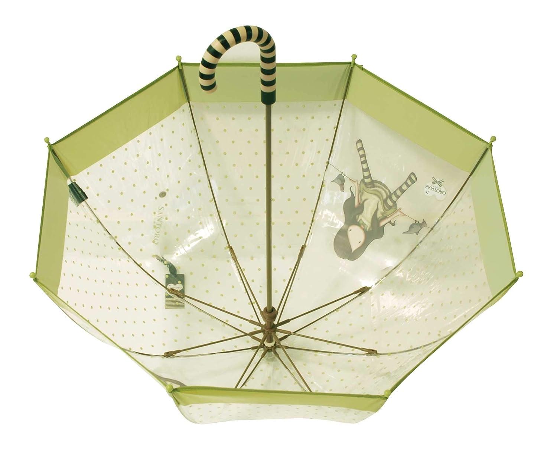 Paraguas Gorjuss Santoro infantil. Modelos en color verde o rosa: Amazon.es: Zapatos y complementos