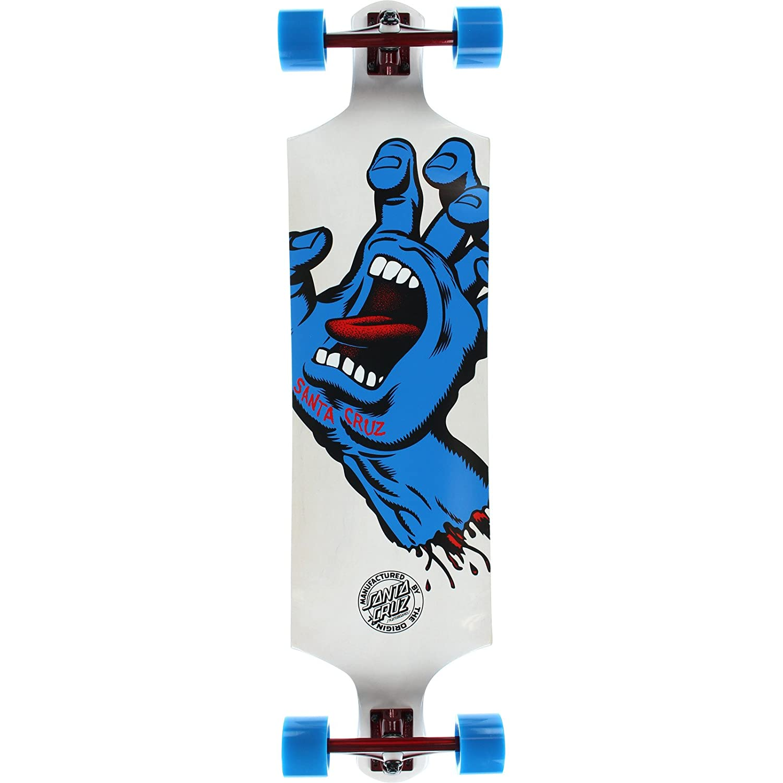 "Santa Cruz Skateboards Screaming Hand White Complete Skateboard - 10"" x 40"""