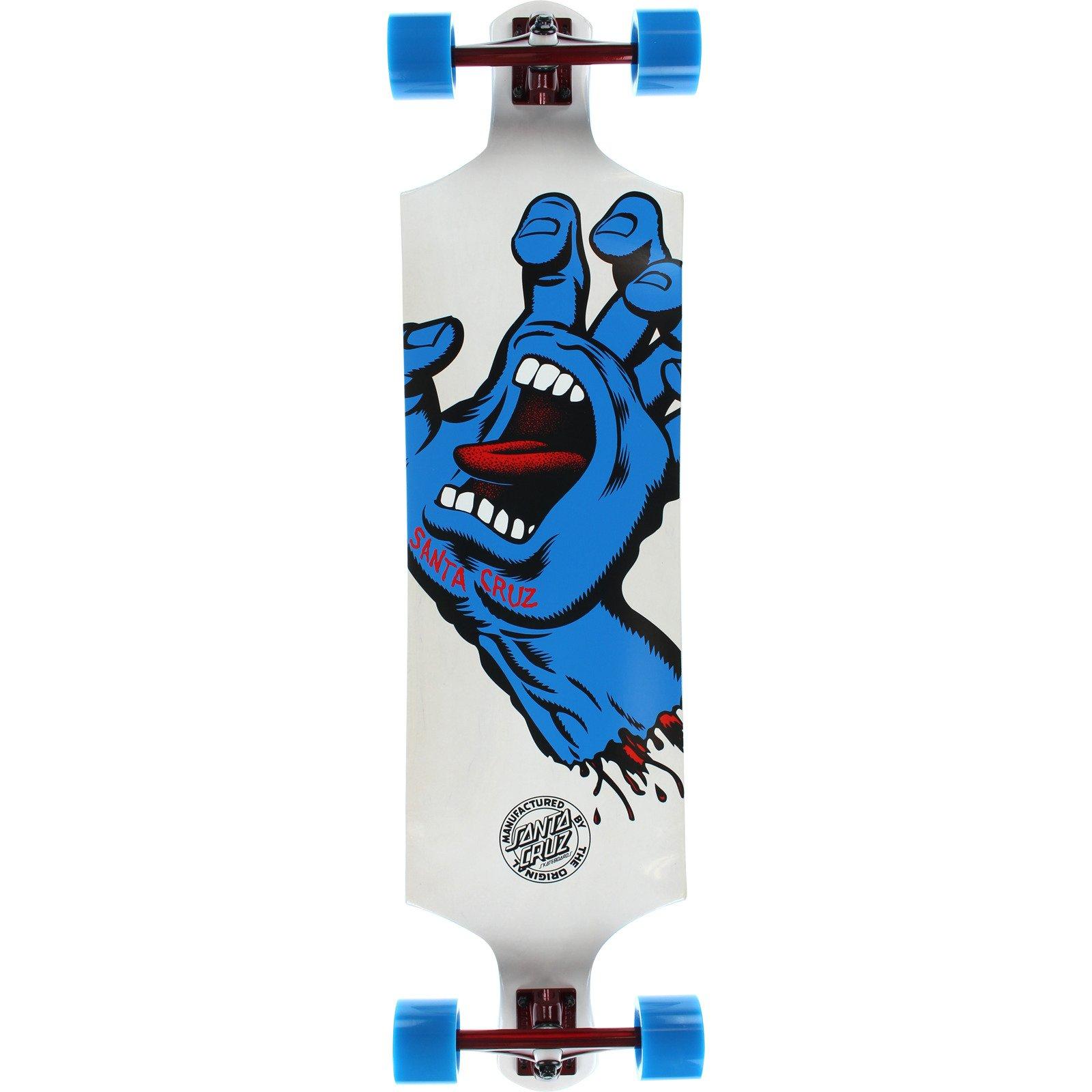 Santa Cruz Skateboards Screaming Hand White Complete Skateboard - 10'' x 40'' by Santa Cruz