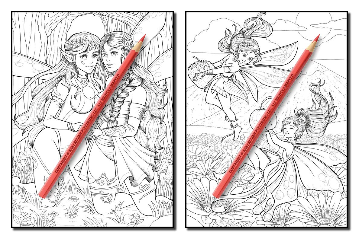 fairies coloring book an adult coloring book with fun beautiful and relaxing coloring pages
