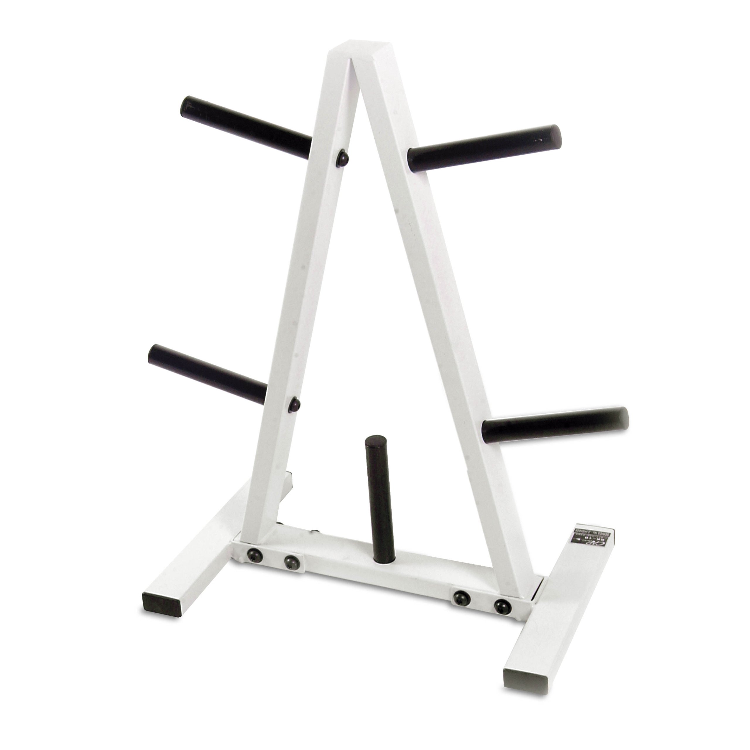 CAP Barbell Standard Plate Rack, Black and White, 1''