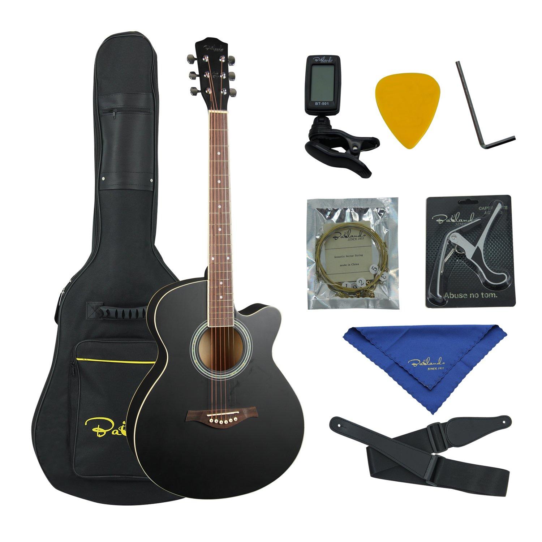 bailando 40 inch cutaway acoustic guitar black