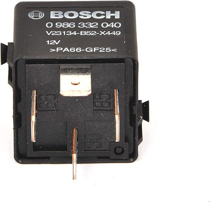 Bosch 0986332040 Mini Relais 12v 60a Ip5k4 Betriebstemperatur Von 40 C Bis 85 C Schließer Relais 4 Pins Auto