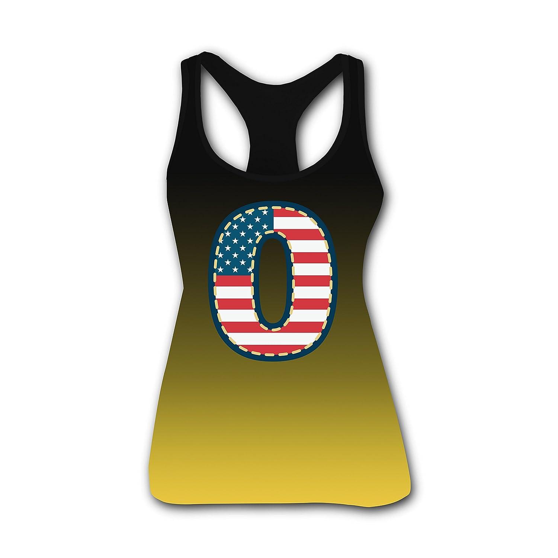 USA Flag Auspicious Number 0 Custom Tank Top Camisole for Women