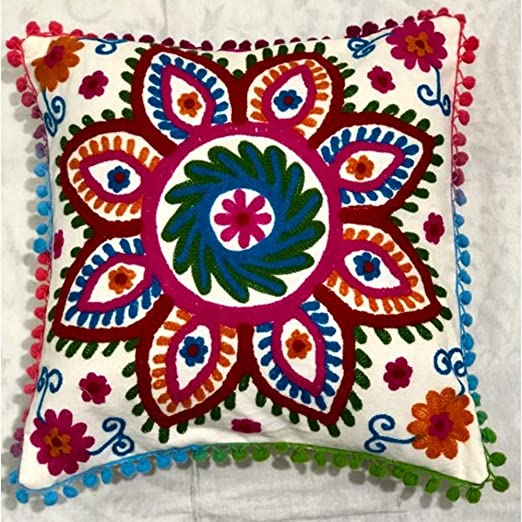 Funda de almohada de algodón con diseño indio para ...