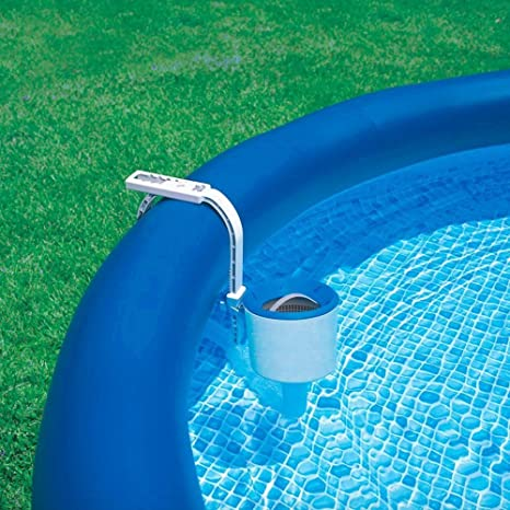 AMGS Kiddie Pool Cleaner Plastic Swimming Floating Filter Attachment Surface Skimmer Small Construction Wall Mount