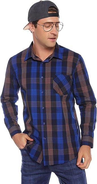 iClosam Camisa Hombre Slim Fit Manga Larga Transpirable Outwear Tops Sueltos Camiseta Deportiva para Hombres: Amazon.es: Ropa y accesorios