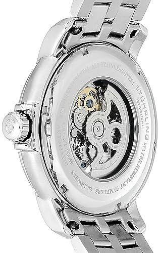 Stuhrling Original Men s 344.331154 Legacy Automatic Self-Wind Skeleton Stainless Steel Link Bracelet Dress Watch