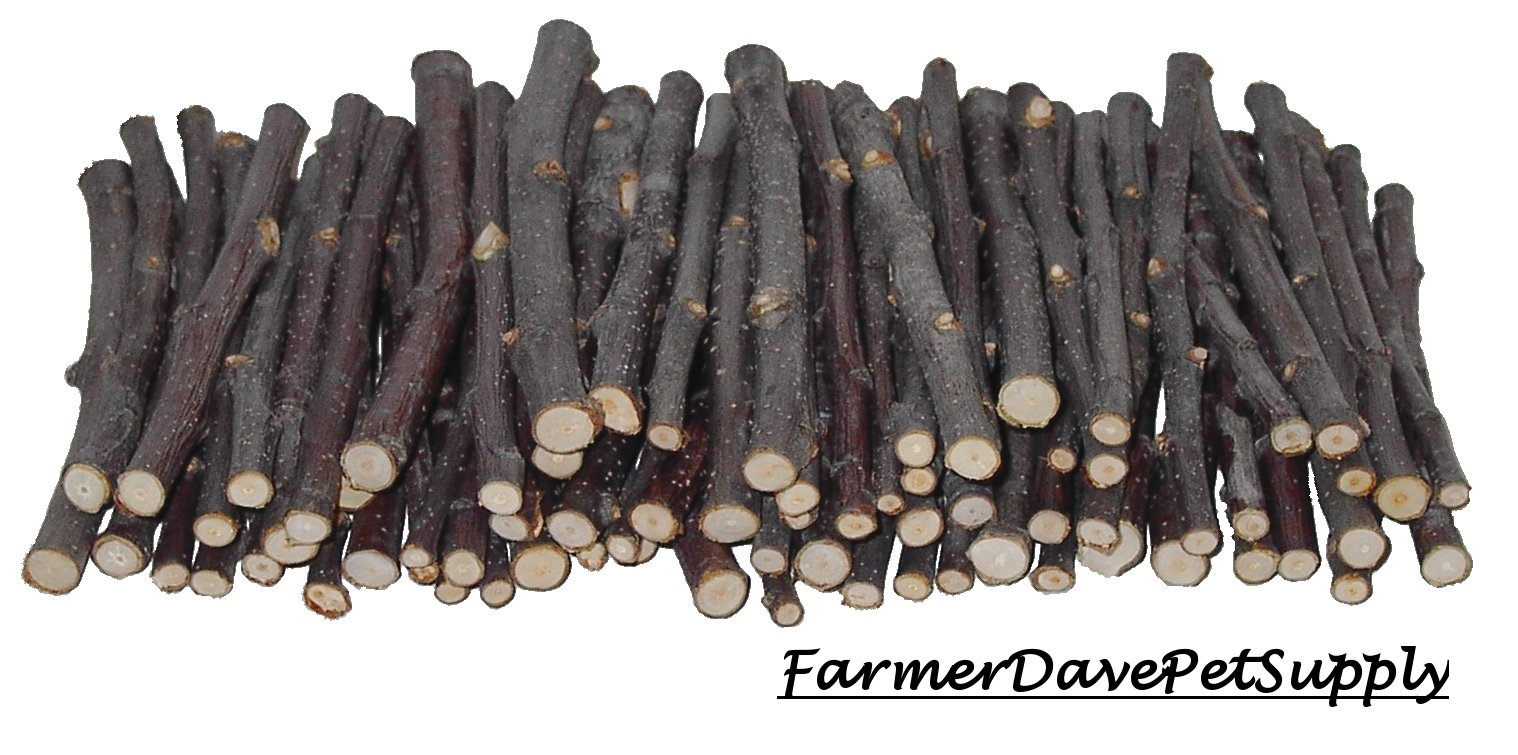 FarmerDavePetSupply 75 Apple Chew Stick Bulk Pack for Rabbits, Guinea Pigs, Chinchillas, Hamsters, Rats and Other Small Animals