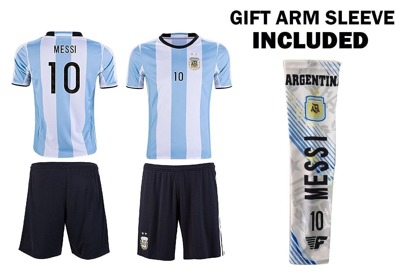 アルゼンチンメッシワールドカップ# 10キッズサッカージャージーすべてユースサイズAges B00KZPACVM12-11 years old