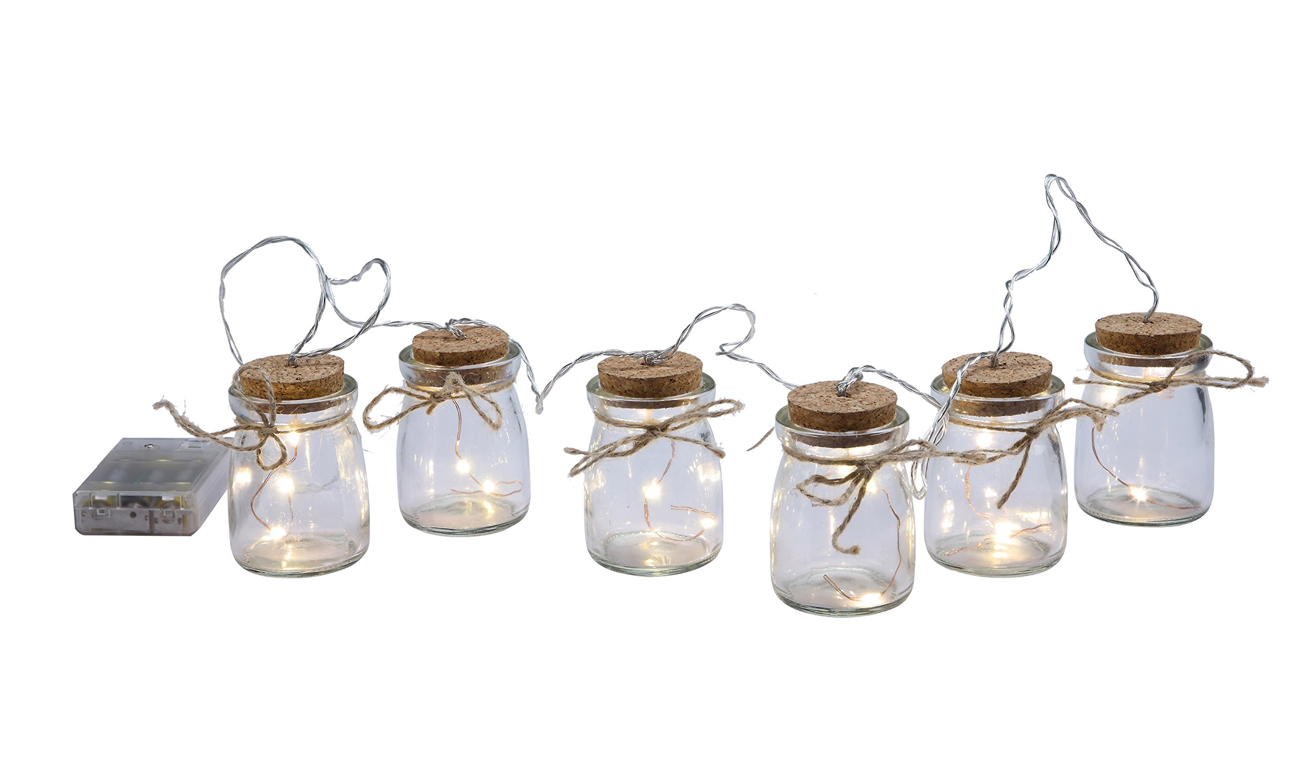 Creative Co-Op DA5423 ''Try Me'' Glass LED Firefly Lights