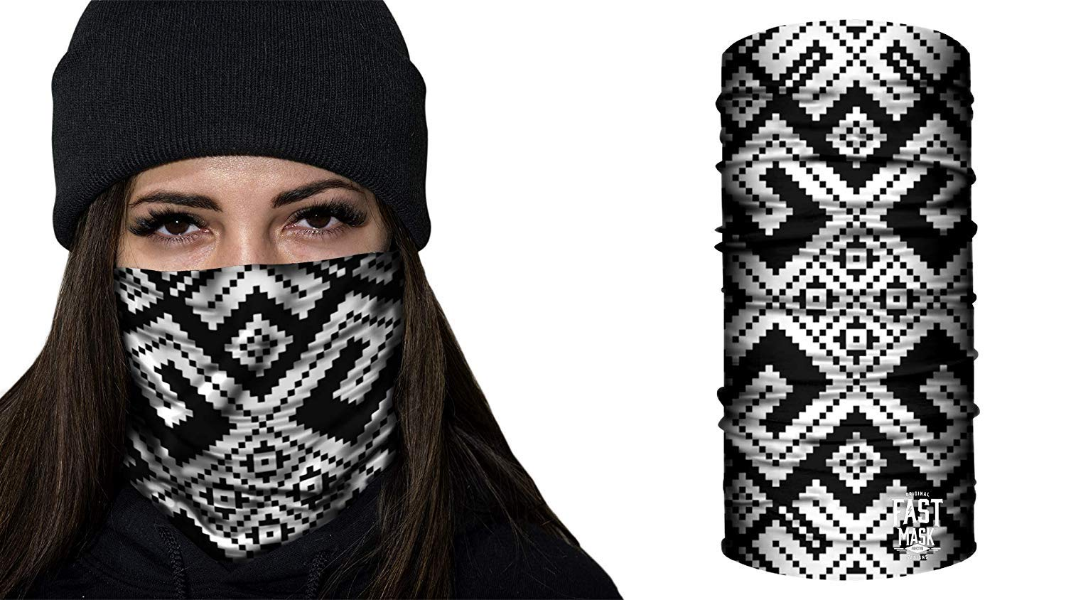 Fast Mask Face Shield for Men, Women & Kids. 100% Microfiber, Windproof with UV Outdoor Sun Protection. - Canada Flag