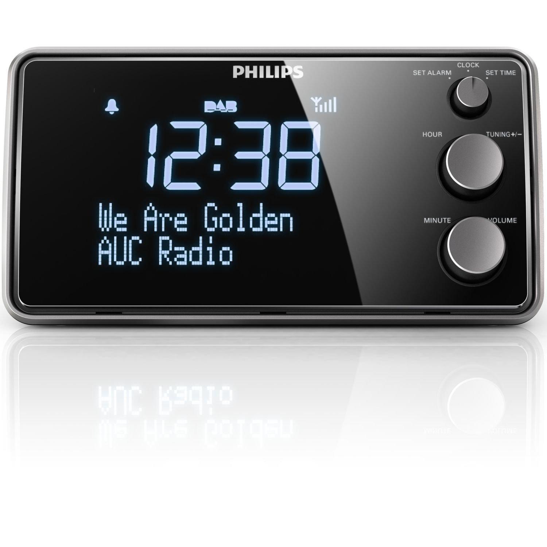Philips AJB3552/12 - Radiodespertador (1.5 W, pantalla LCD), negro: Amazon.es: Electrónica