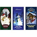 Salted Caramel Cocoa, Belgian White Hot Chocolate and Chocolate & Cinnamon Hot Cocoa Set of SIX Single Serve Packets - Best G