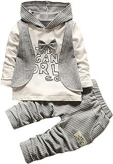 Odejoy 2PCS Tops + Pantaloni Bimbo bambino bambini baby maglietta Top + pantaloncini pantaloni Toddler bambino ragazzi camicia top + pantaloni lunghi abiti signore abiti set