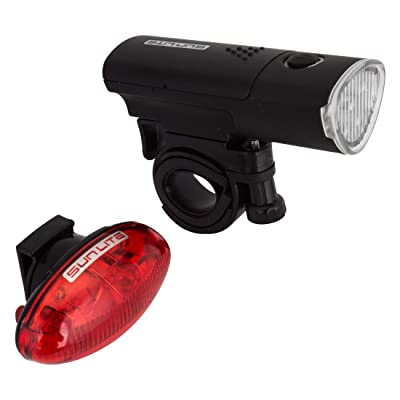 Sunlite HL-L535/TL-L420 Combo, Black : Bike Headlight Taillight Combinations : Sports & Outdoors