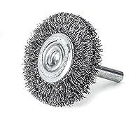 LESSMANN Ontroestingsborstel 30 x 9 x 6 mm fijne gegolfde staaldraad schrubber, accessoires voor accuschroevendraaiers