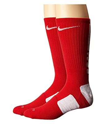 Calcetines Nike Elite Basketball Crew Small (para mujeres, talla 4-6) Red