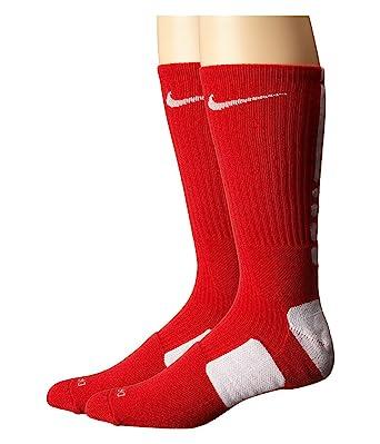 Nike Elite Basketball Crew University Red/White/White Crew Cut Socks Shoes
