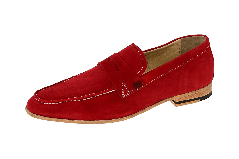 Gordon & Bros 623026 Red - Mocasines de Piel para hombre Rojo