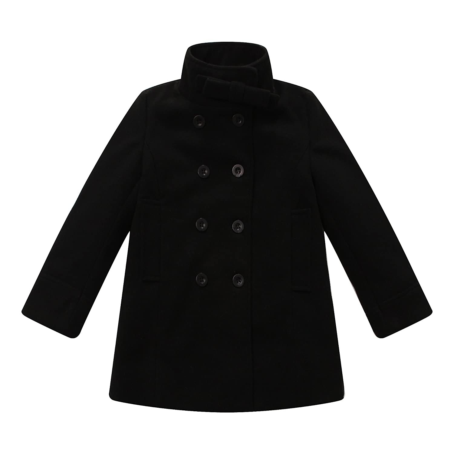Richie House Girls Double-breasted Jacket with Little Stand Collar Size 2-12 Rh0644