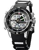 Shark - Montre Homme Sportive - SH042 - Quartz/ LED - Bracelet Acier